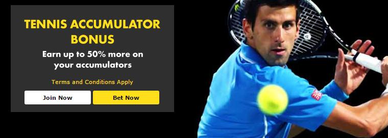 tennis accumulator bonus