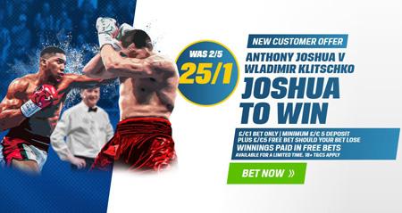 Joshua v Klitschko free bet