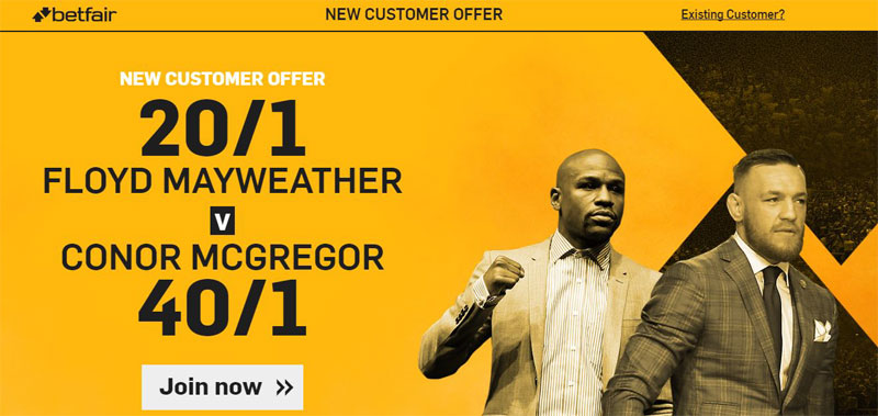 Mayweather v McGregor betting odds