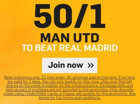 Man Utd v Real Madrid