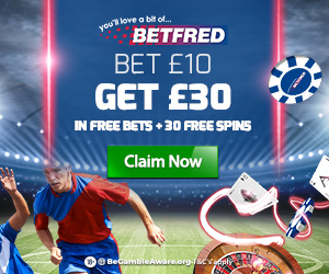 Betfred free bets at Betfinder