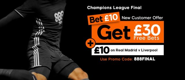 Champions League Free Bets Bet 10 Get 30 + 10 at 888Sport