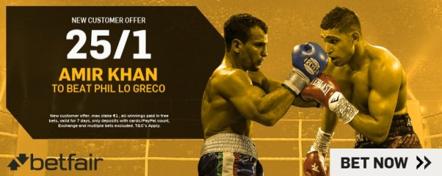 Amir Khan Betting Offer