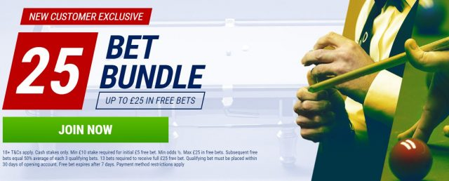 World Snooker Betting Offer