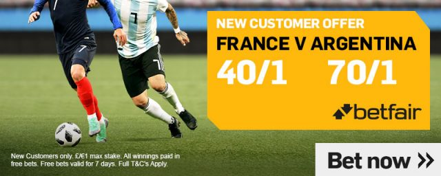 France v Argentina Betting
