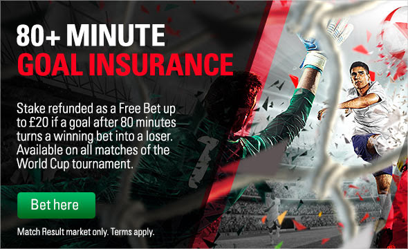 Goal Insurance Betting Offer
