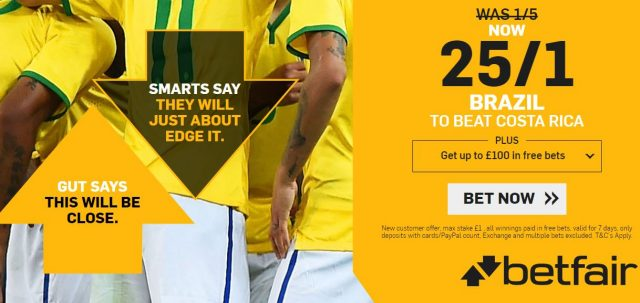 Brazil World Cup Betting
