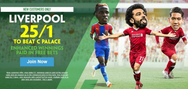 Liverpool v C Palace Premier League Betting Offer