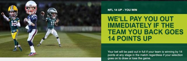 NFL Early Payout Betting Offer