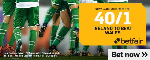 Ireland v Wales Betting Offer