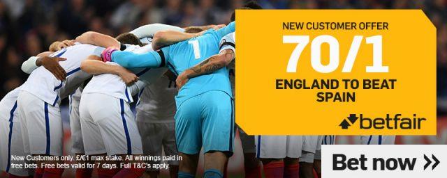 Betfair Spain England Welcome Offer