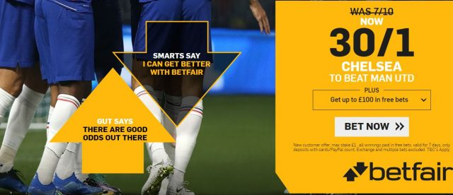 Chelsea v Man Utd Betting Offer