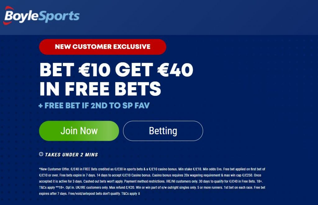 BoyleSports Betting Offer
