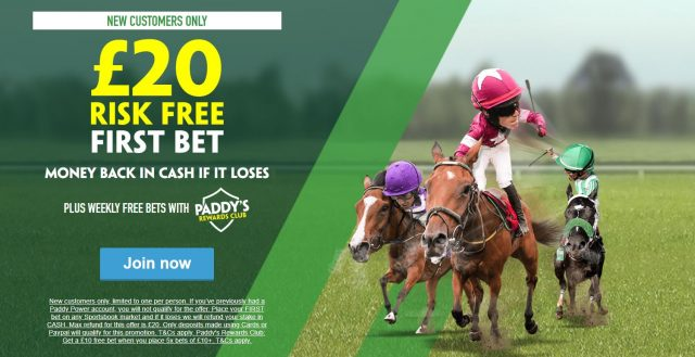 Paddy Power Risk Free Fee Bet Offer