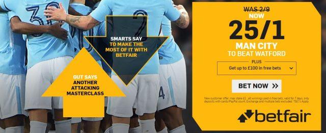 Watford v Manchester City Betting Predictions