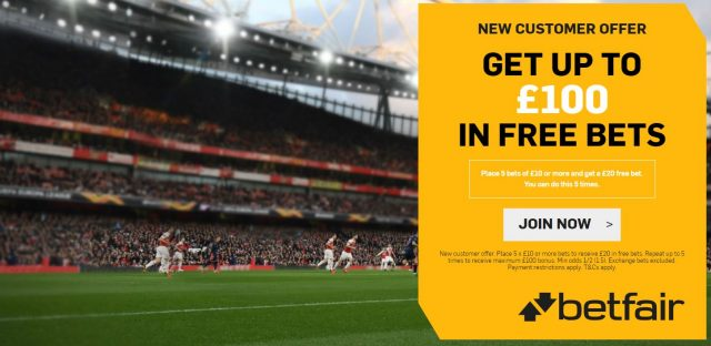 Betfair Football Free Bet Offer