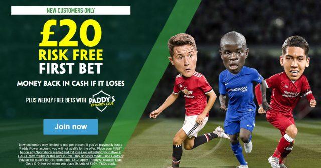 Paddy Power Risk Free Fee Bet
