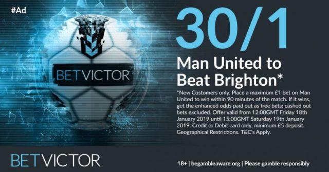 Man Utd v Brighton Betting Offer