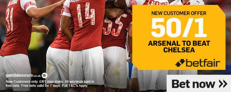 Arsenal v Chelsea Betting Offer