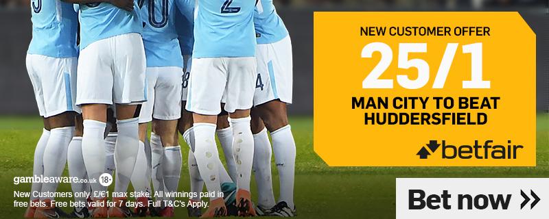 Man City v Huddersfield Football Betting Offer