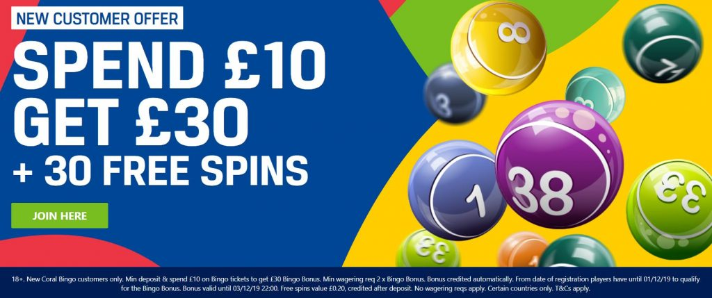 Coral Bingo Betting Offer