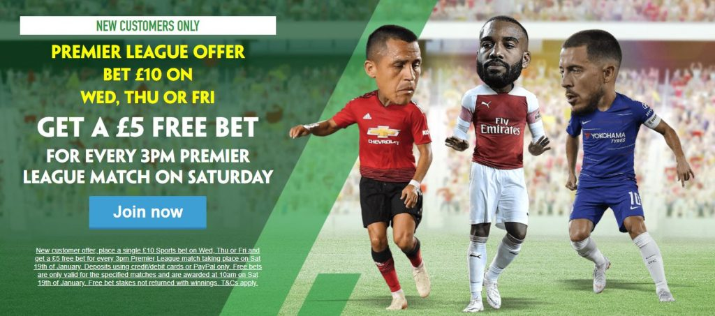 Premier League Football Free Bet
