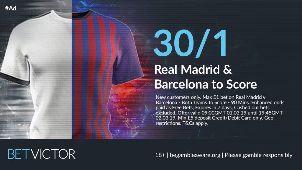 Real Madrid v Barcelona Betting Predictions