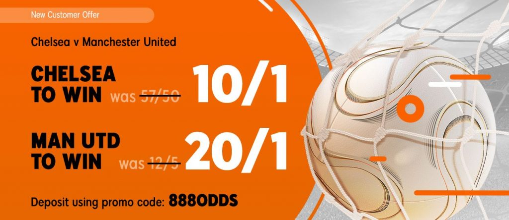 Chelsea v Man Utd Betting Offer