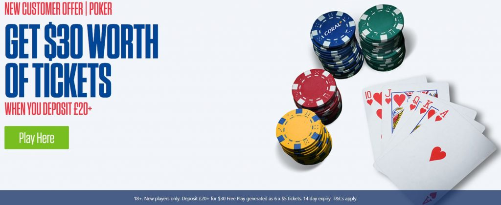 Coral Poker Betting Offer