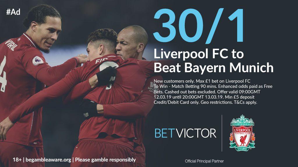 Liverpool v Bayern Munich Betting