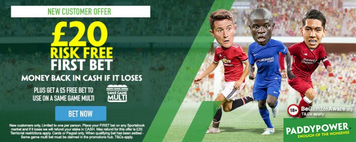 Paddy Power Risk Free Free Bet Offer
