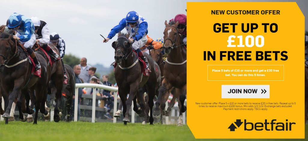Betfair Racing Free Bet