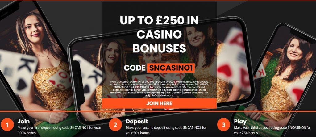 SportNation Casino Bonus Offer