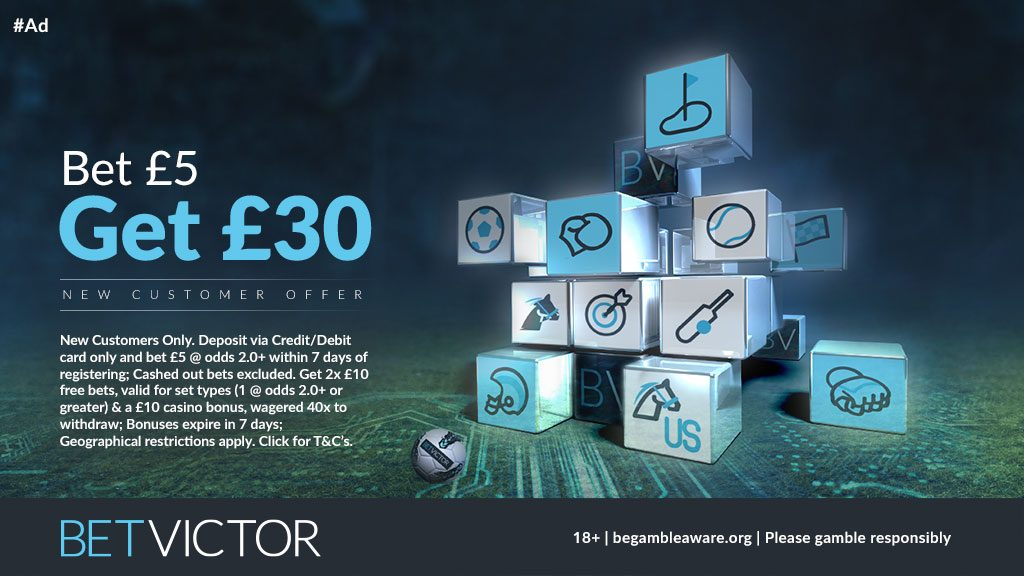 BetVictor Free Bet Betting Offer