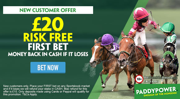 Paddy Power Racing Risk Free Bet