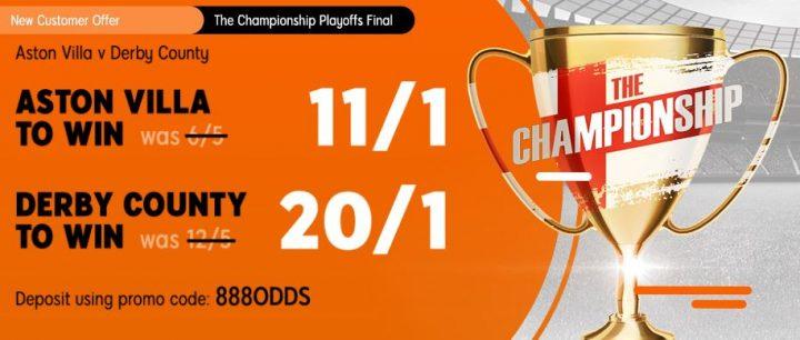 Villa v Derby Championship Betting