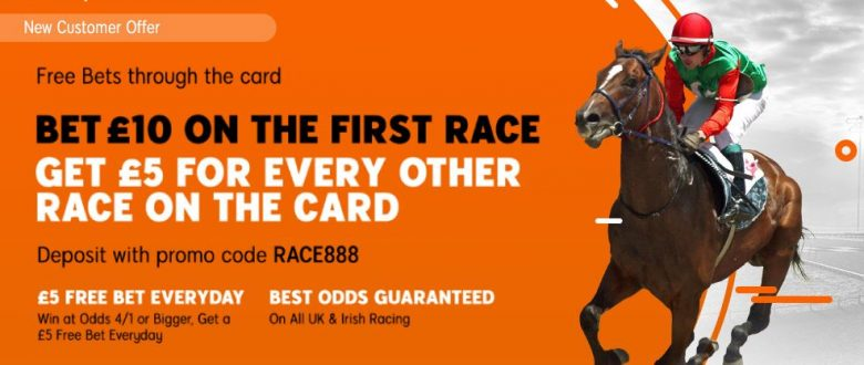 888Sport Racing Free Bet