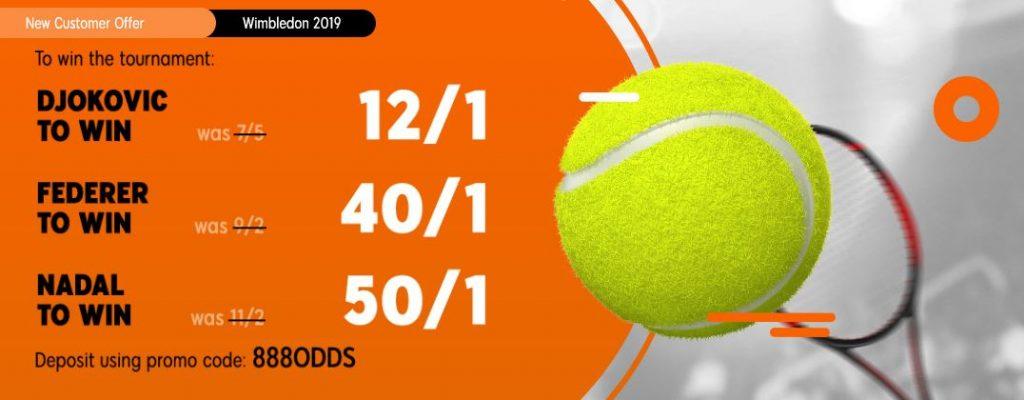 Enhanced odds bet at Wimbledon 2019