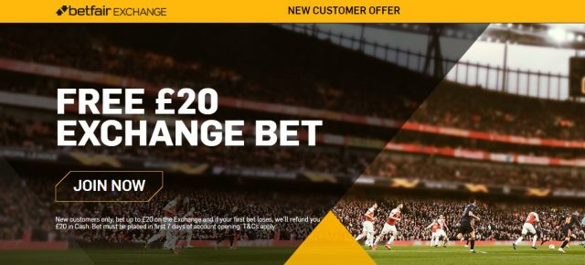 Exchange Free Bet Offer