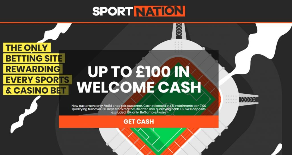 SportNation £100 Welcome Betting Offer