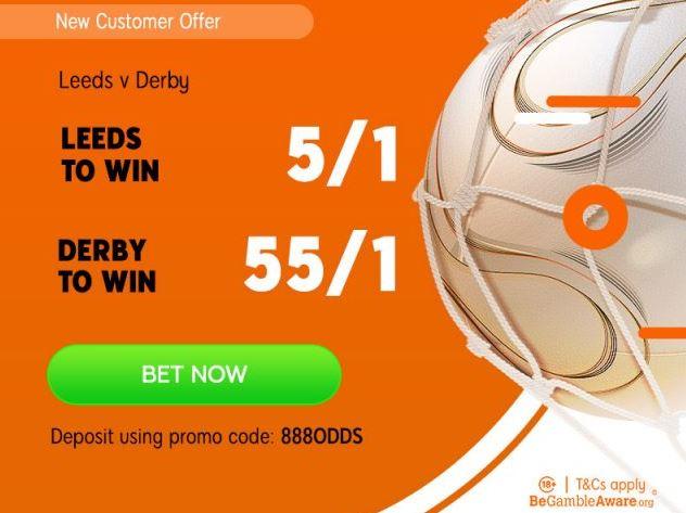 Leeds v Derby Championship Betting Offer