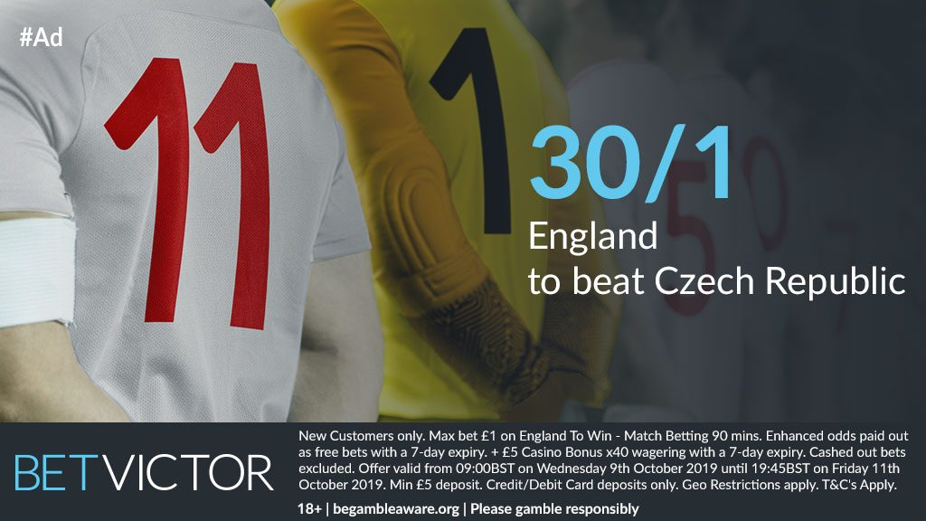 England UEFA Euro 2020 Qualifying Betting Offer