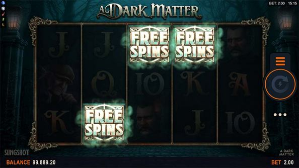The game's exciting Free Spins round is activated when 3 Scatter symbols land on the reels
