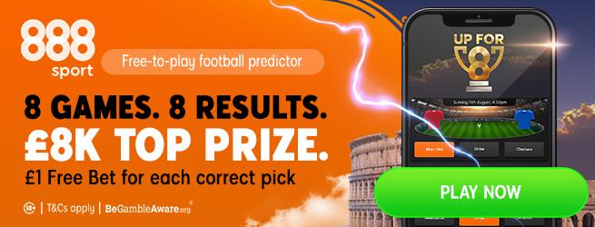 888Sport Football Free Bet Offer