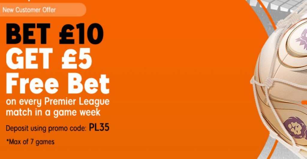 Premier League Free Bet Offer at 888Sport