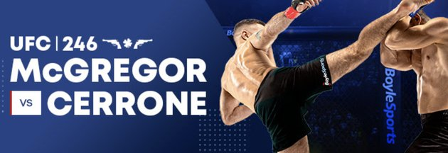 Bet on UFC246 at Boylesports