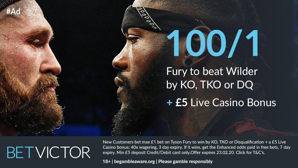 Tyson Fury Enhanced Odds Betting Offer