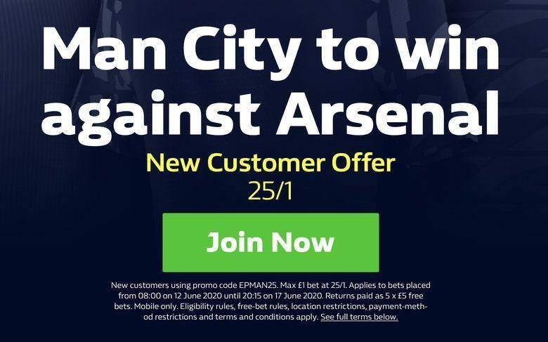 Man City v Arsenal Premier League Betting
