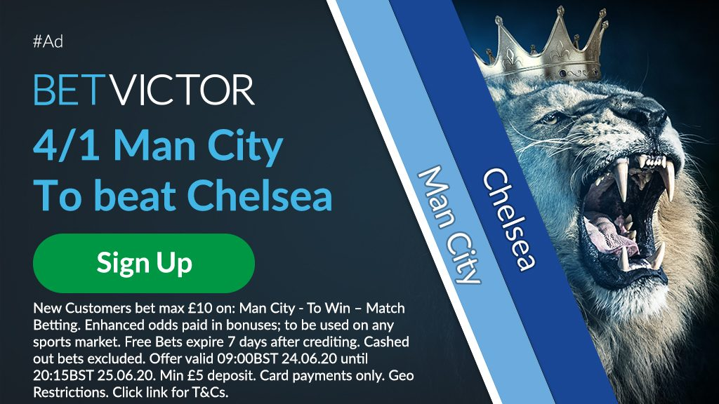 Man City Premier League Betting Offer