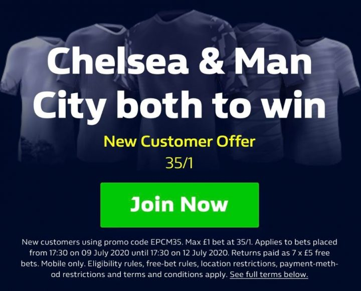 Chelsea and Man City EPL Betting Offer